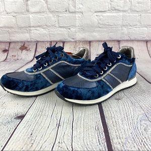 Henry Ferrera velvet and AB crystal sneakers size9